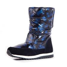 Лыжный загрузки женщин ботинок зимы средний-икры плоским снегоступы R8974(China (Mainland))
