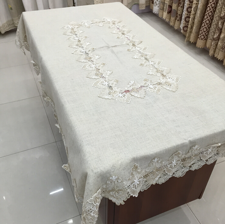 New pastoral plain cotton gray linen table cloth tea tablecloth square table cover towel multi-purpose Table cover(China (Mainland))