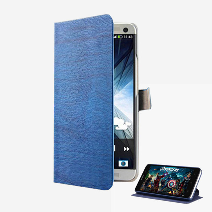 Hot New Lenovo A536 Case Original Flip Wooden Leather