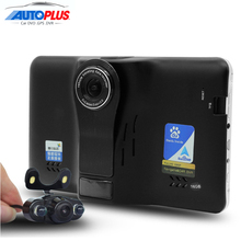 7″ Car GPS Navigation Android 4.4 navigator Rear view auto Car DVR Radar detector AVIN Built in 16GB Navitel/Europe vehicle gps