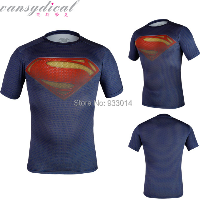 Fitness Shirt superman gym running cycling t shirt fit tight shirts sports t-shirt compression tops - Sport T-Shirt ST 1 store