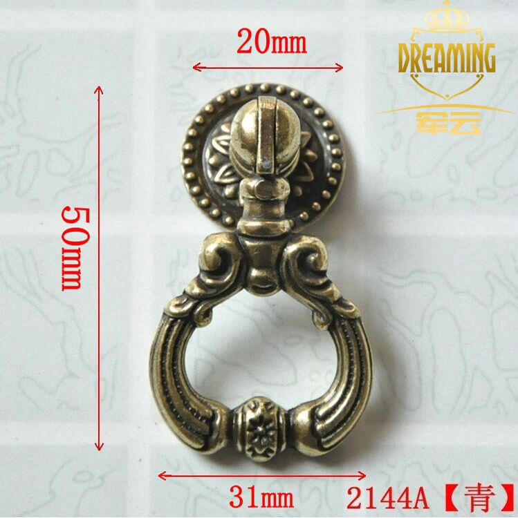 10PCS Antique Brass Drawer Handles Unique Design Cabinet Furniture Knobs (D:31MM) Free shipping(China (Mainland))