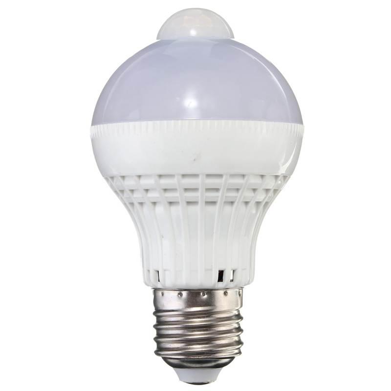 Lowest Price E27 5W 220V 2835 SMD 18 LED Motion Control PIR Sensor Globe Light Lamp Bulb Pure Warm White<br><br>Aliexpress