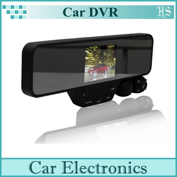 """Hot Sale 3.5"""" LCD Rearview Mirror HD Dual Lens Car Vehicle DVR Cam Dash Video Recorder(China (Mainland))"""