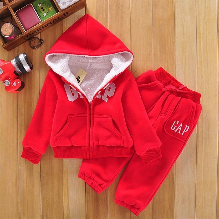 Free shipping 2015 Autumn and winter casaco gaps lamb cashmere Hoodie sport suit children's suits outdoor 2-5 years baby set(China (Mainland))