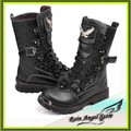 Fashion Winter Army Boots Artificial Leather Motorcycle Boots Metal
