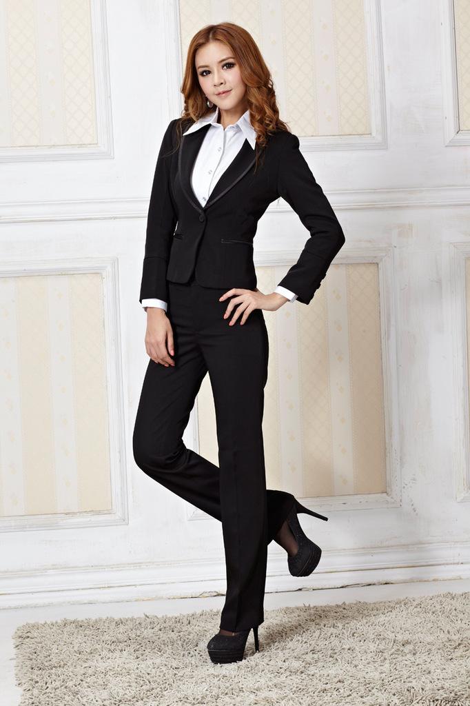 Women Trouser Suit 2015 New Fashion Business Pantsuit Office Lady Work Wear Designer Uniform ...