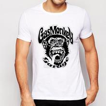 Plus size tee shirt homme 2016 New Summer gas monkey Men t shirt Casual Short Sleeve Cotton t shirt men Tops mens t shirts
