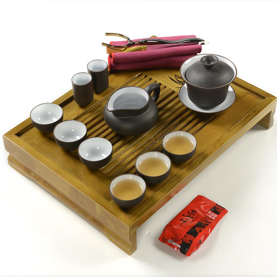 Free shipping chinese tea set 1pcs teapot 6pcs cup wood tea tray tea set cup chinaware