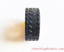 Free Shipping 4 pcs Robot Car Wheel for 130 Gear Motor cheap sale(China (Mainland))