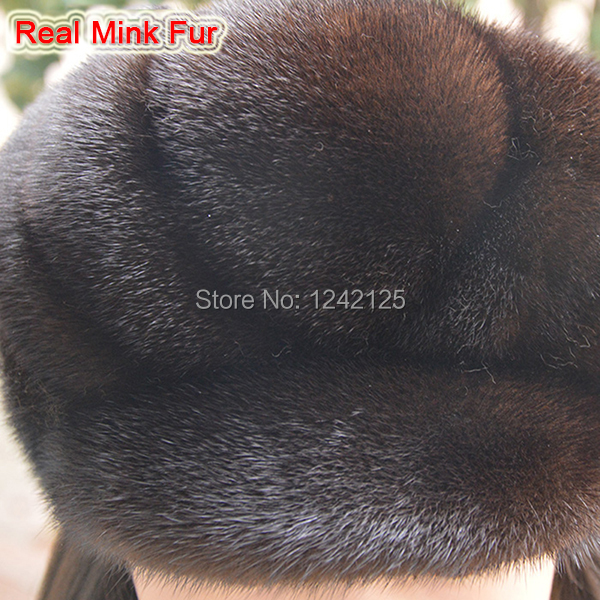 New Autumn winter parent-child mink fur hat windproof warm cute ... d3eaa8d2aeb
