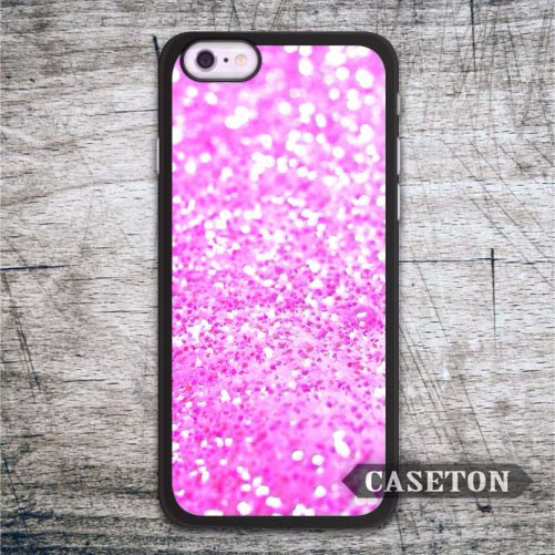 Pastel Pink Glitter Case For iPhone 7 6 6s Plus 5 5s SE 5c 4 4s and For iPod 5 Classic Lovely Protective Cover Free Shipping