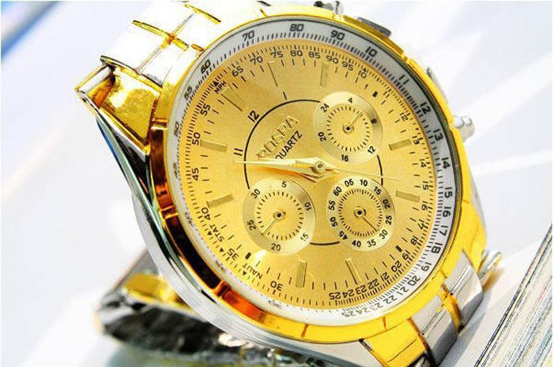 New 2015 Fashion Quartz Watch Men Stainless Steel Luxury Sport Analog Clock Men s Wrist Watch