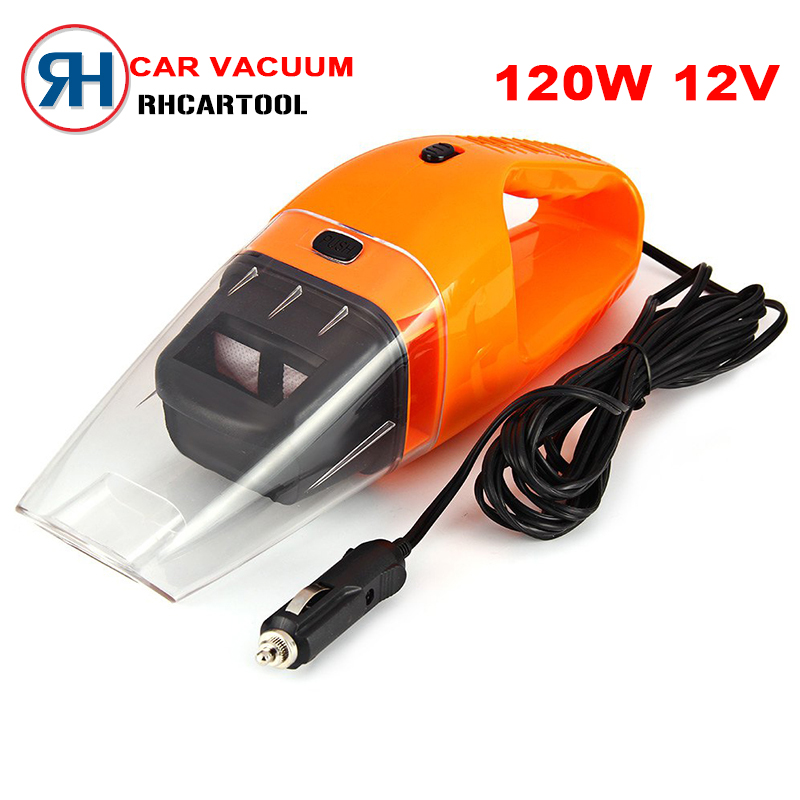 2016 Auto Accessories Portable 5M 120W 12V Car Vacuum Cleaner Handheld Super Suction Wet And Dry Dual Use Vaccum Cleaner For Car(China (Mainland))