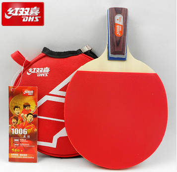 Free Shipping X1006 Best PingPong racket Double Happiness Table Tennis Racket Ping Pong table for Short handle table tennis bat(China (Mainland))