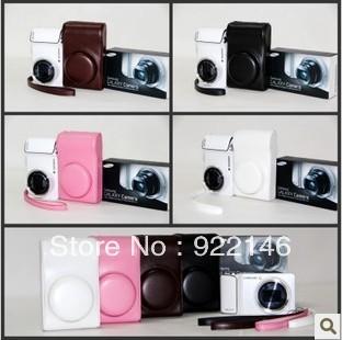 Free shipping High Quality Leather case bag for Samsung Galaxy GC100 Camera EK-GC100 bag