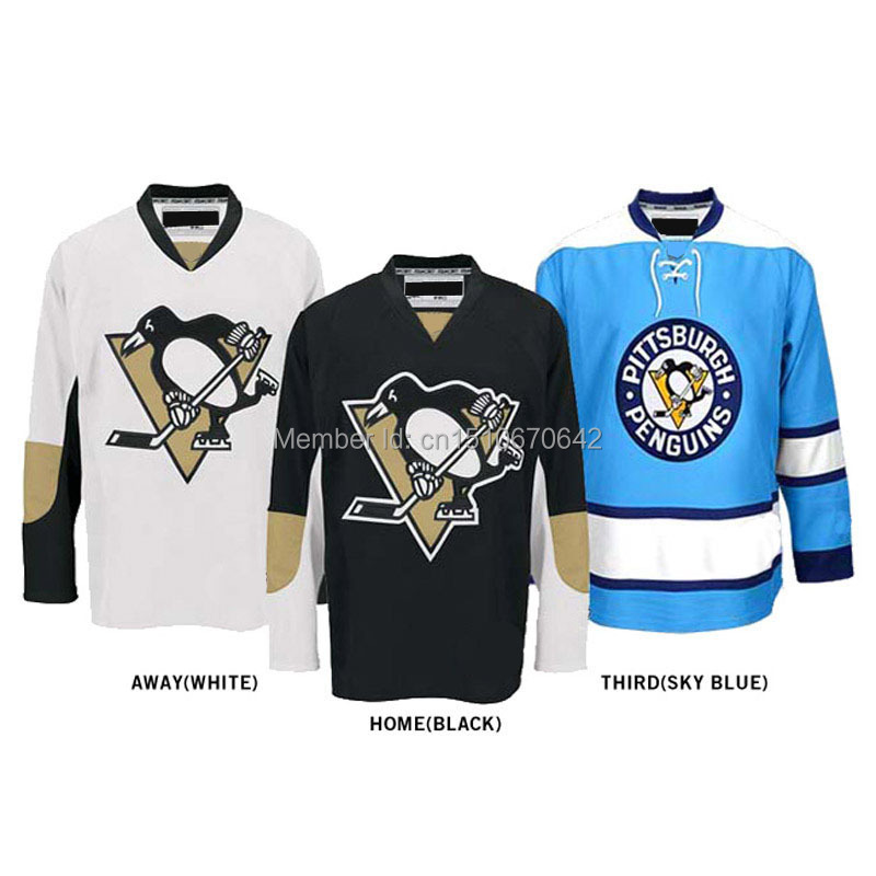 Personalized jersey Pittsburgh Penguins jersey hockey jersey Home/Away/Alternate Embroidery Logo Sew on Any Name &amp; NO. YS-6XL<br><br>Aliexpress