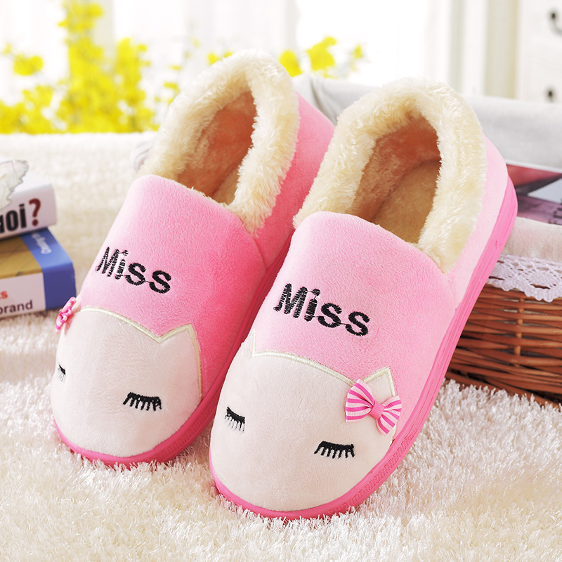 2016 shoes for men and women section Home Furnishing couple warm winter package with lovely cotton slippers and indoor slippers(China (Mainland))