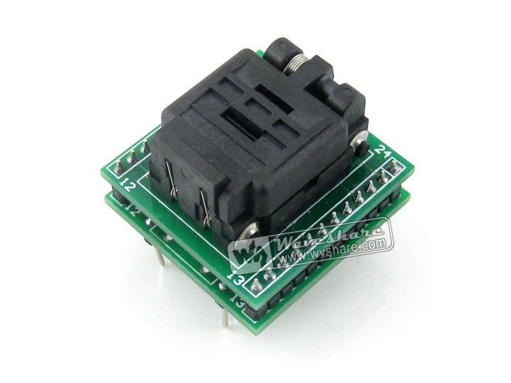 QFN24 TO DIP24 (B) QFN24 MLF24 MLP24 Plastronics 24QN50K14040 IC Test Socket Programming Adapter 0.5mm Pitch + Free Shipping<br><br>Aliexpress