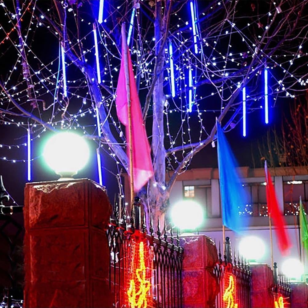 New 30cm Meteor Shower Rain Tubes Christmas Lights Led ...
