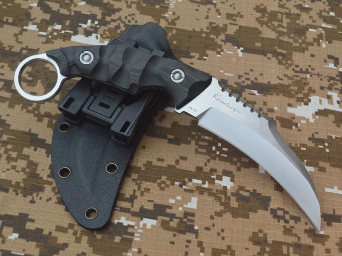 Buy LW claws Karambit VG - 10 blade carbon fiber fixed blade knife KYDEX sheath EDC tool cheap