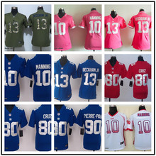 SALE New York Giants For Women Home Away BLUE WHITE stitched Odell Beckham Jr Eli Manning Victor Cruz Phil Simms BR-3,camouflage(China (Mainland))