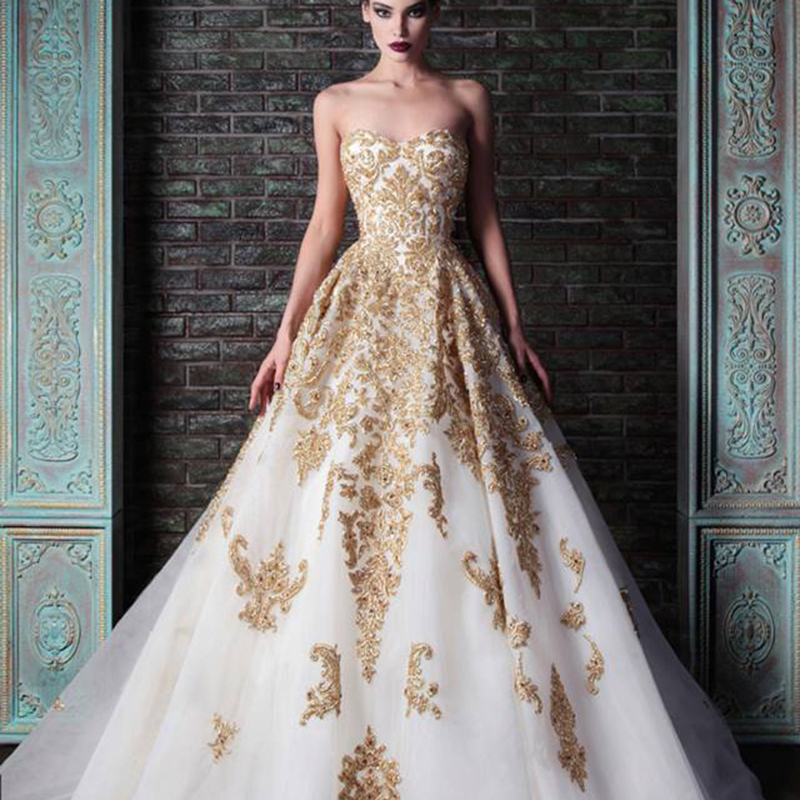 High Quality Wedding Dresses with Gold Embroidery-Buy Cheap ...