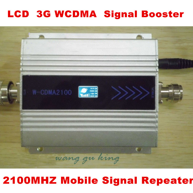 Family LCD 3G WCDMA 2100MHZ Mobile Phone Signal Booster GSM Signal Repeater/Booster/Amplifier/Receivers. Cell Phone Amplifier(China (Mainland))