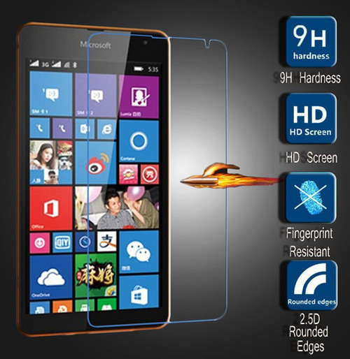Amazing 9H 0.3mm 2.5D Nanometer Tempered Glass screen protector for Microsoft Nokia Lumia 535