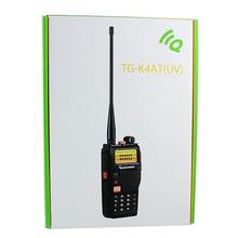 100% New Black Portable Radio Walkie Talkie QUANSHENG TG-K4AT(UV) Dual Band VHF UHF 128CH DTMF VOX Two Way Radio Transceiver