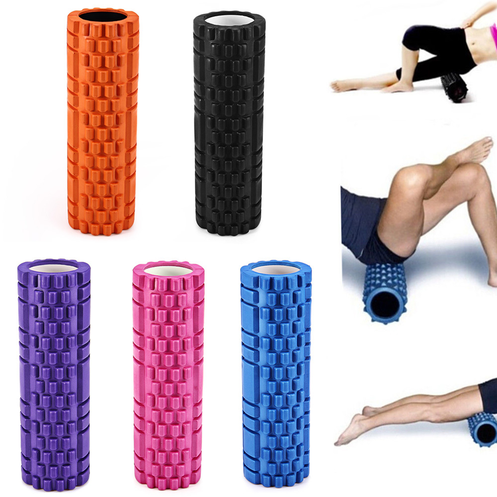 5 Colors Yoga Fitness Equipment Eva Foam Roller Blocks Pilates Fitness Crossfit Gym Exercises Physio Massage Roller(China (Mainland))
