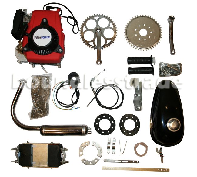 OPHIR 4 Stroke 49CC Motorized Bicycle Cycle Bike Gas Engine Conversion Kit Pull Start for Bicycle
