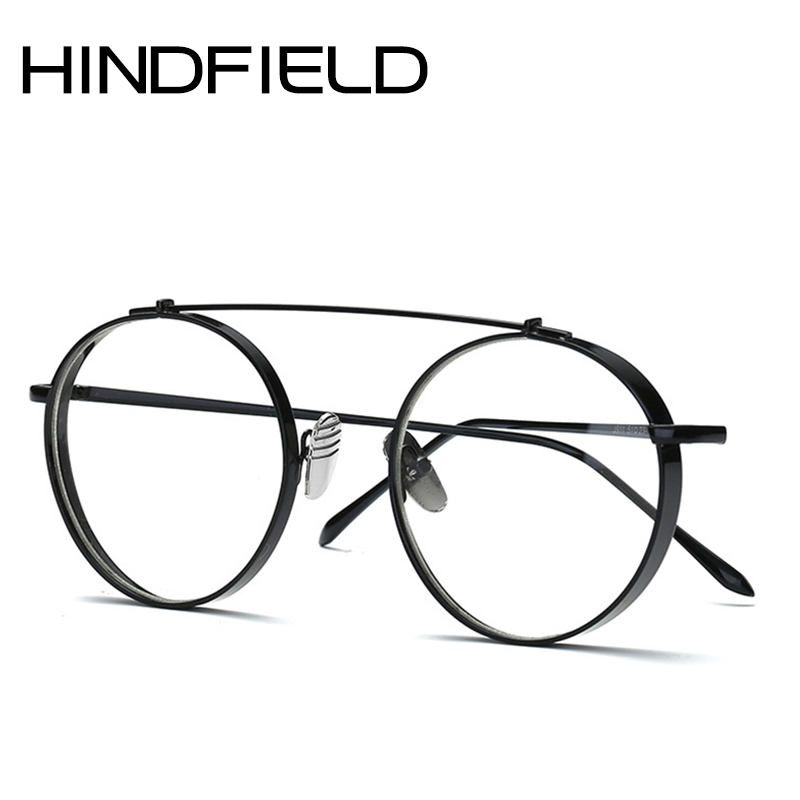 cheap frames for glasses 6u80  2017 Newest Fashion Round Glasses frames for Women Metal Men Optical frame  Circle Wide side Eye