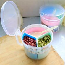 kitchen Food storage box plastic 3 samll boxes with cover+spoon cereal spice Multifunction storage seasoning box(China (Mainland))