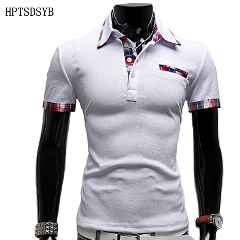 Mens Polo Shirt Brands 2017 Male Short Sleeve Fashion Casual Slim False Pocket Embroidery Polos Men Jerseys