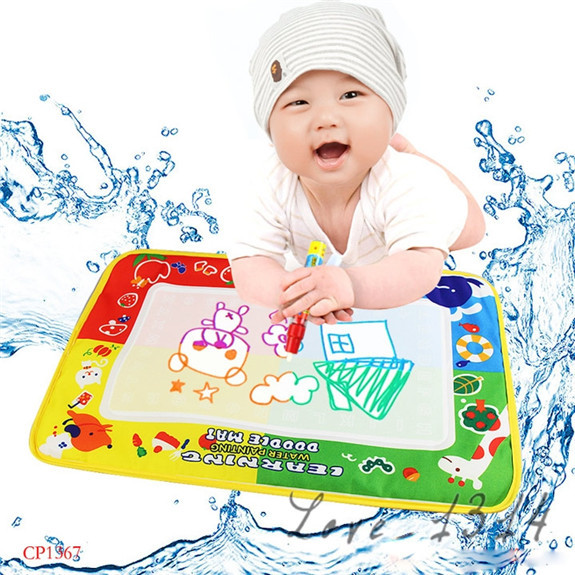 High Quality! 46 x30cm Aqua Doodle Water Drawing Toys Mat&1 Magic Pen/Water Drawing Board Baby Play Educational Toy Hot 19382(China (Mainland))