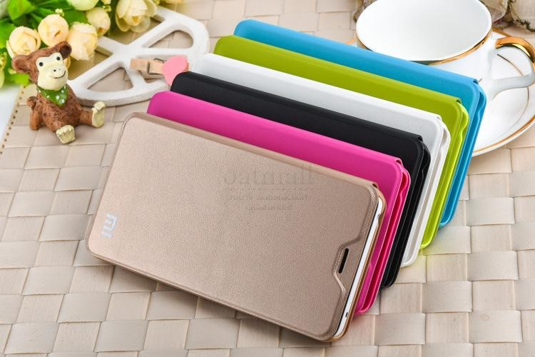 New Luxury PU Leather Smart Flip Cover For Xiaomi Redmi Note 2 Case With Stand Original Hongmi Note 2 Fundas Mobile Phone Bags