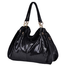 hot patent Leather handbags Women's Shoulder Bag crocodile pattern leather messenger bags patent leather TOTE(China (Mainland))