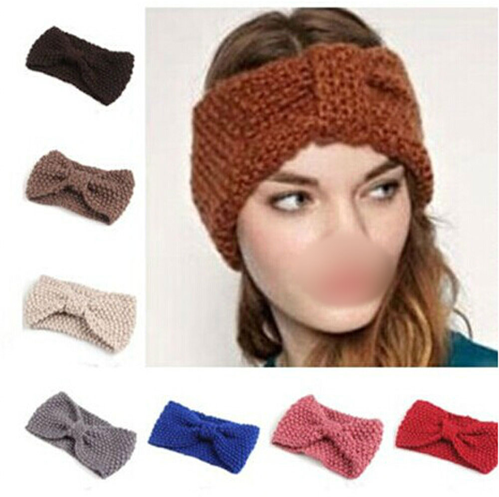 Flower Crochet Knit Knitted Headwrap Headband Ear Warmer Hair Head Band Hot Sale(China (Mainland))