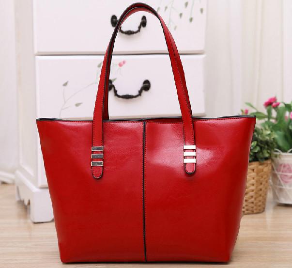 2015 New promotion women's genuine leather+PU Leather handbag bags fashion women's cowhide shoulder bag large bag Wholesale(China (Mainland))