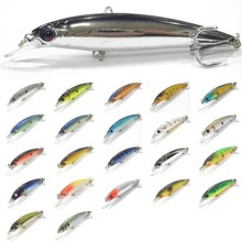 Fishing Lure Minnow Crankbait Hard Bait Inner Reflection Foil Slow Floating Jerkbait Weight Transfer System Fishing Tackle M600