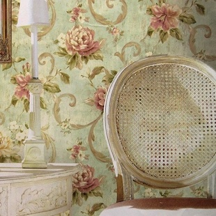 Non-woven American retro pastoral flowers wall paper roll bedroom,elegant flower tapete girls - Cici's Friends store