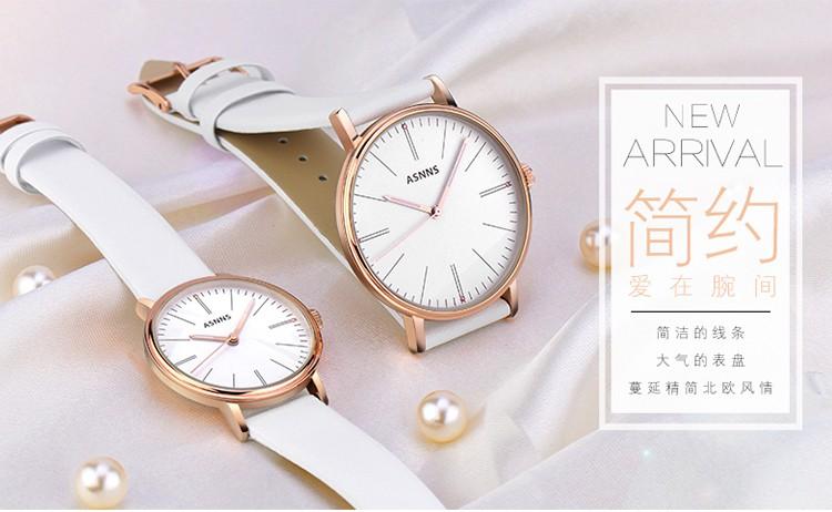 Леди смотреть мода пару столов световой водонепроницаемый кожаный ремень часы кварцевые часы женские часы