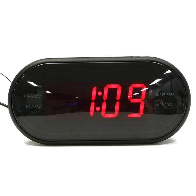 ABS FM Radio LED Radio Clock Alarm 24 Hours System Alarm/Snooze/Sleep Function Easy Operation 9.7x9cm(China (Mainland))
