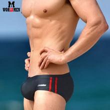 Free shipping 2015 swimwear men fashion swimming trunks sexy mens swim briefs aussie sungas masculinas moda praia 4 colors(S44)(China (Mainland))