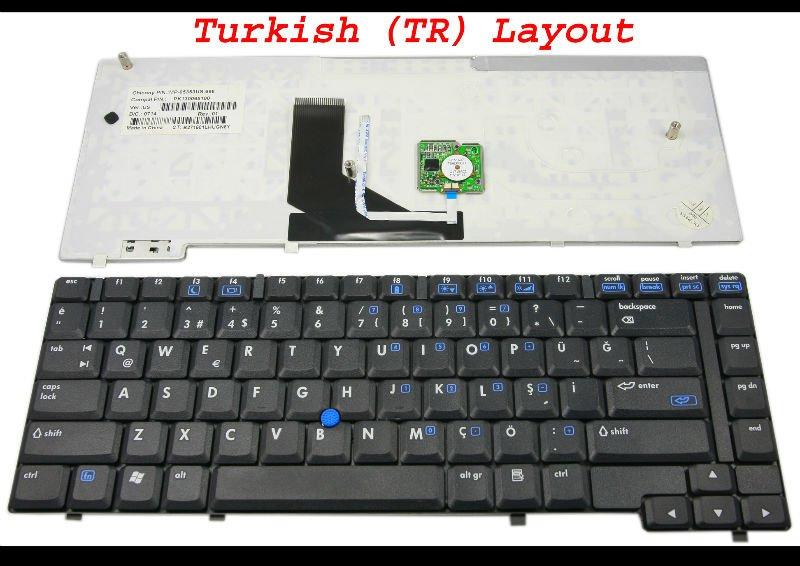 Laptop keyboard for HP NC6400 nc 6400 Black Turkish TR Version - 399946-141(China (Mainland))