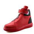 New Design Superstar High top Men Casual Shoes Outdoor Walking Hook Loop Front Zipper Men Shoes
