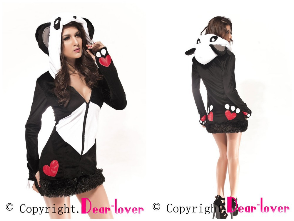 Sexy fantasies Animal themed cosplay Costume for party Deluxe Panda Bear Costume cute clothing set animal products(China (Mainland))