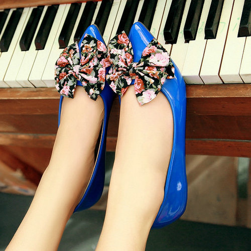 flat shoes woman 2015 new fashion pointed toe sweet bowtie slip-on simple casual women flats size 34-39 - ChengDu Fashion Shoes Factory store