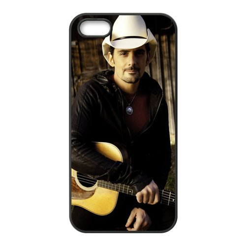 Custom Brad Paisley With Cool Hat Plastic Case Cover for iPhone 5 5s High Quality Phone Cover(China (Mainland))